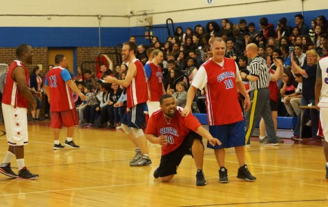 Coach Bobbitt Pulls a Steph Curry to Win Against Students 54-53